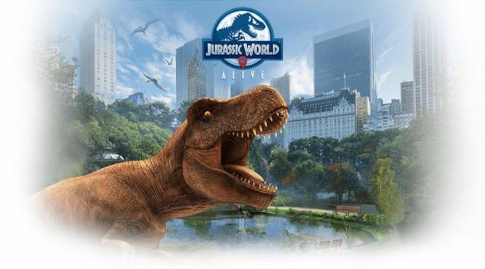 Il banner ufficiale del videogioco Jurassic World Alive