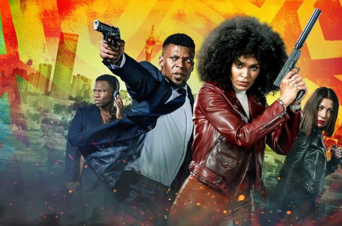 Queen Sono e gli altri protagonisti della serie si preparano ad affrontare una complessa missione