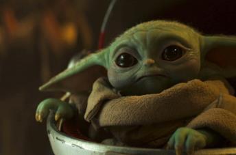 Baby Yoda nella serie TV The Mandalorian