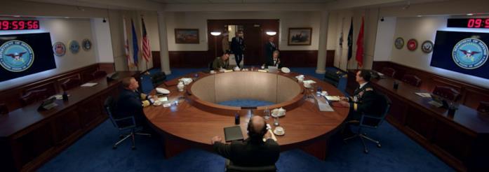 La stanza delle riunioni in Space Force