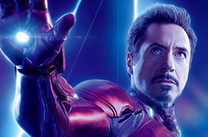 Tony Stark / Iron Man nel poster di Avengers: Endgame