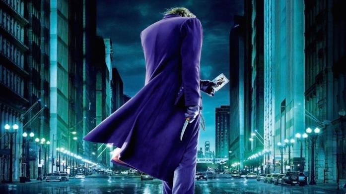 Character poster de Il cavaliere oscuro dedicato a Joker