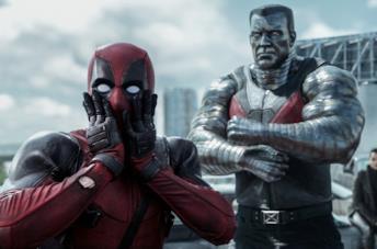Ryan Reynolds in una scena del film Deadpool