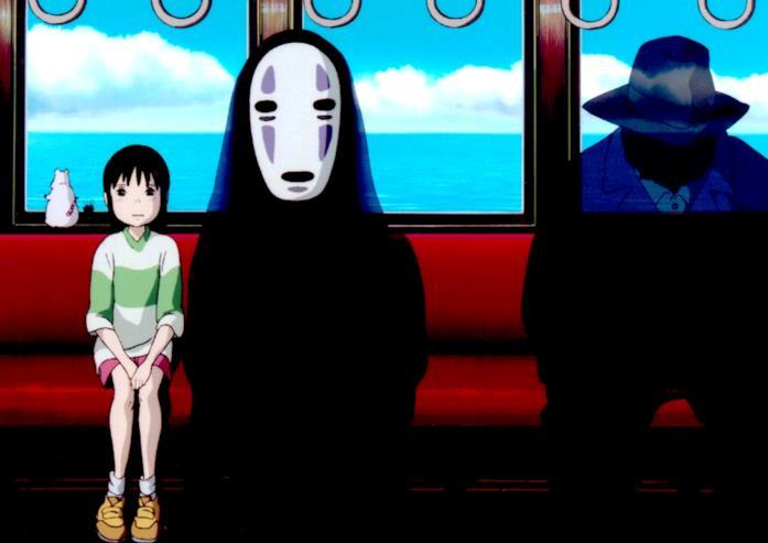 La ragazzina protagonista de La città incantata, passeggera in treno