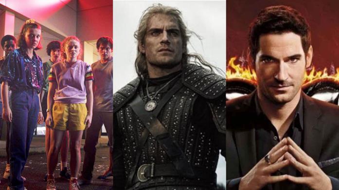 Primi piani del cast di Stranger Things, The Witcher e Lucifer