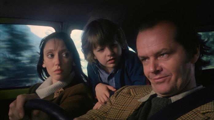 La famiglia Torrance in viaggio verso l'Overlook Hotel