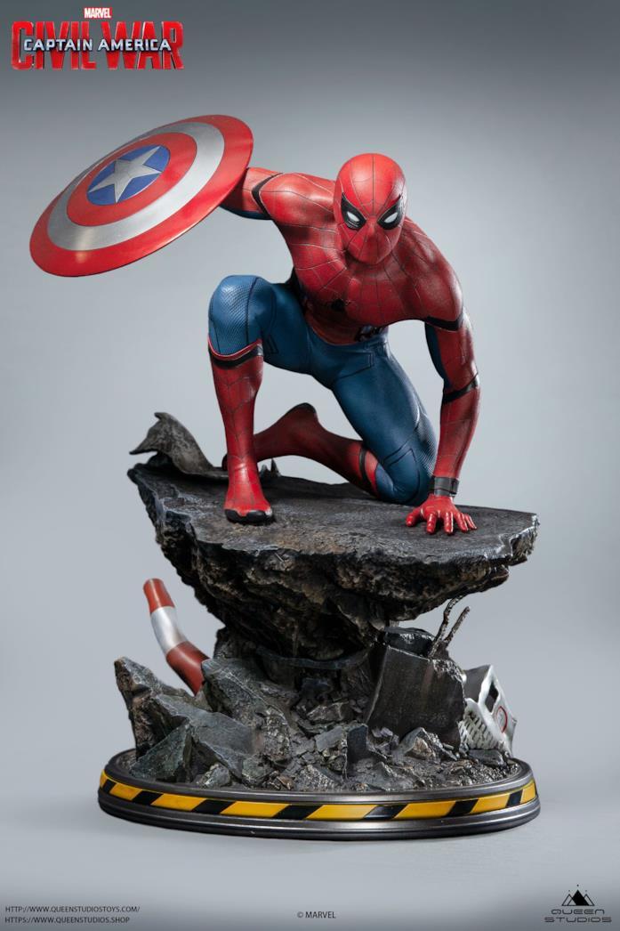 Spider-Man: Queen Studios presenta la statua da Civil War