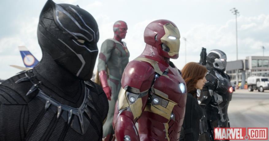 Team Iron Man in Capitan America: Civil War