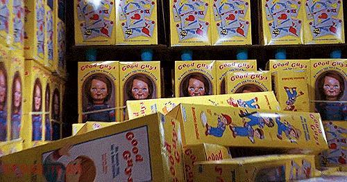 Chucky tra i giocattoli