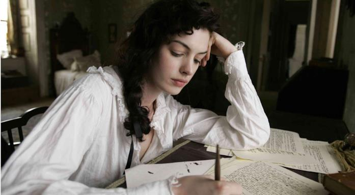 Jane Austen scrive in Becoming Jane