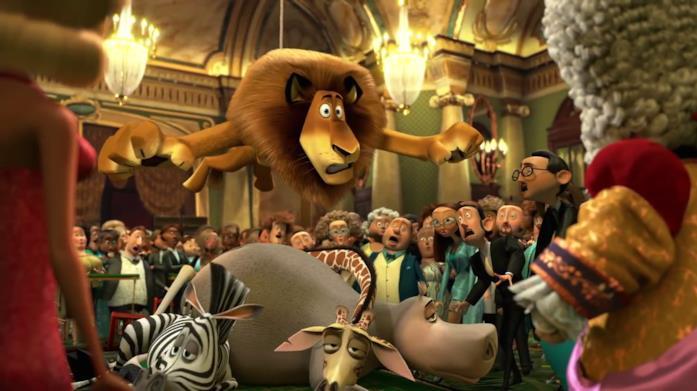 Madagascar 3 scena