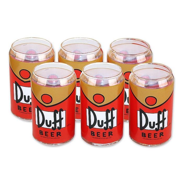 Set da 6 bicchieri targato Duff Beer