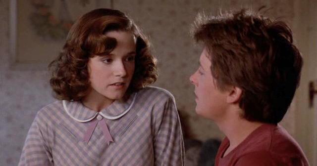 Una scena di Marty e Lorraine in Ritorno al futuro