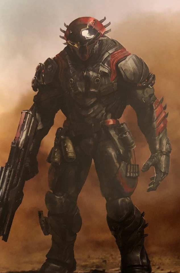 Il concept di una razza aliena che appare per pochi secondi in Avengers: Endgame