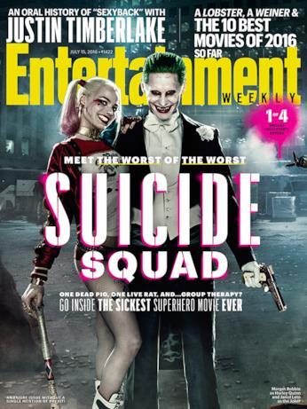 La cover 1/4 di Entertainment Weekly dedicata a Suicide Squad