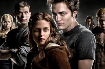 Una scena di Twilight con Kristen Stewart e Robert Pattinson