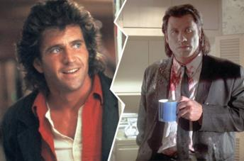 Mel Gibson in Arma letale e John Travolta in Pulp Fiction