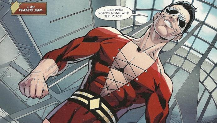 Il supereroe Plastic Man nella serie a fumetti Injustice