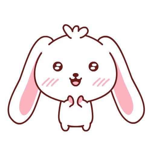 GIF con coniglietto che applaude