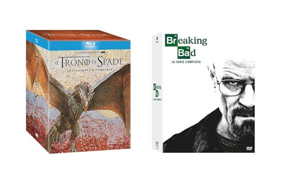 Cofanetto Blu-Ray di Game of Thrones e DVD Breaking Bad