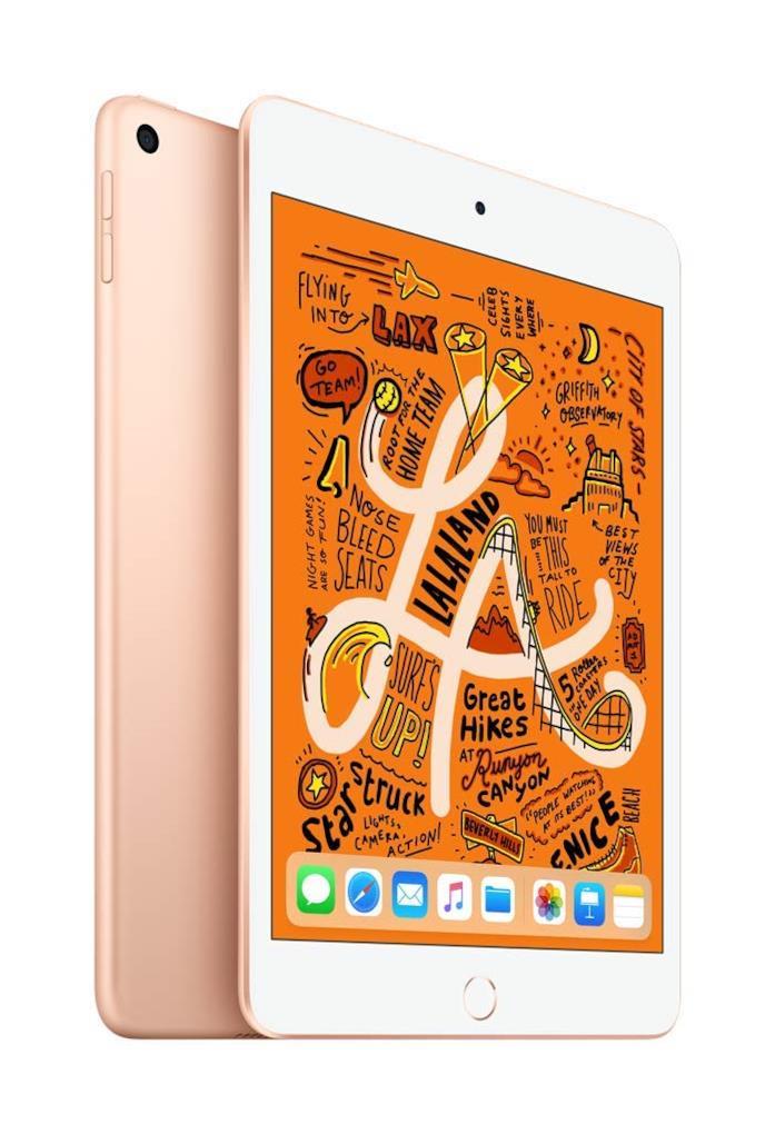 Immagine stampa di iPad mini di Apple in versione Oro