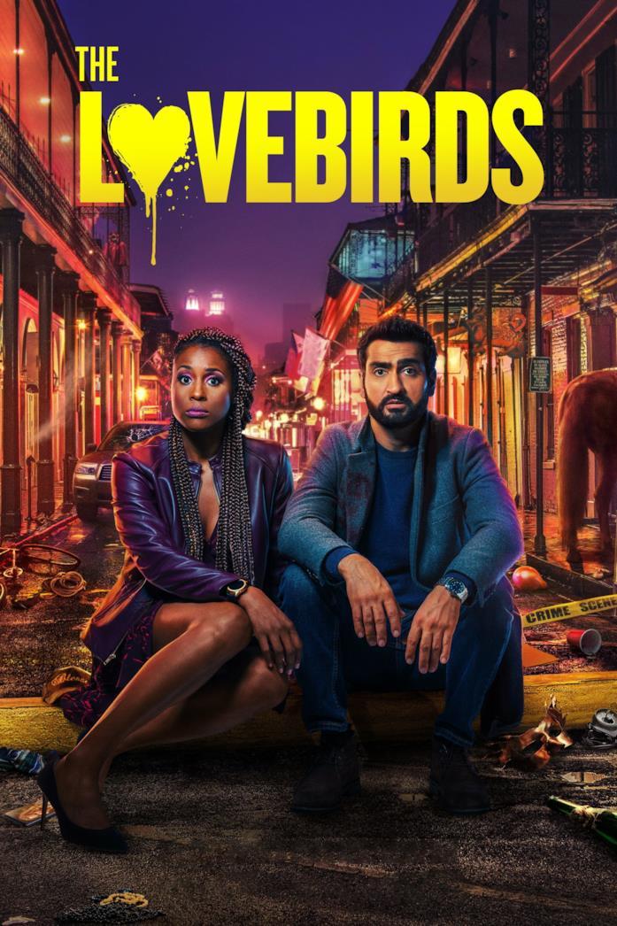 Il poster ufficiale del film The Lovebirds