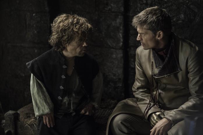 Peter Dinklage e Nikolaj Coster-Waldau in Game of Thrones