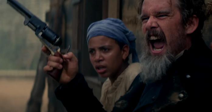 John Brown e Cipollina pronti allo scontro a fuoco in una scena di The Good Lord Bird