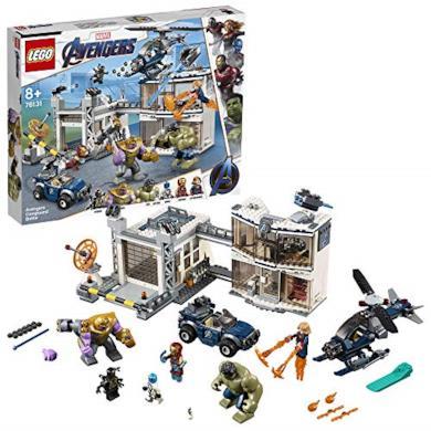 LEGO 76131 Super Heroes Avengers Battaglia nel Quartier Generale, Set di Gioco con Super Eroi, 699 pezzi, 8+
