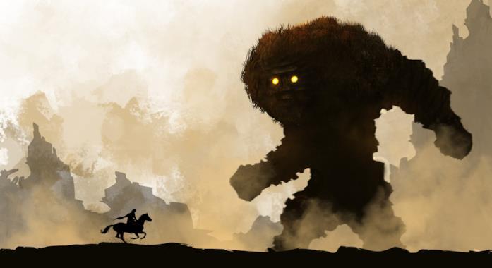 Uno splendido artwork di Shadow of the Colossus