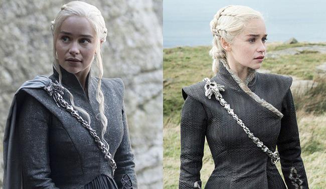 Comparazione fra due vestiti di Daenerys
