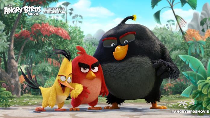 Il trio di Angry Birds protagonisti del film in arrivo a febbraio 2016