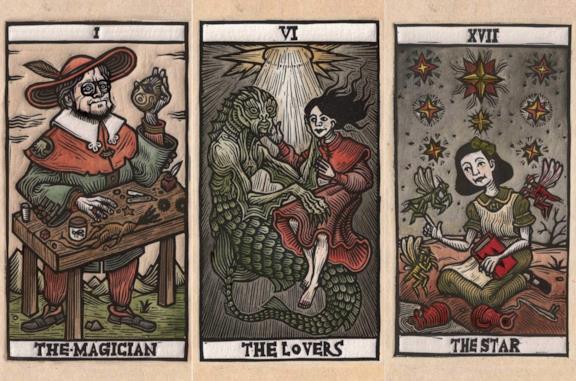 Tre carte dei Tarot del Toro