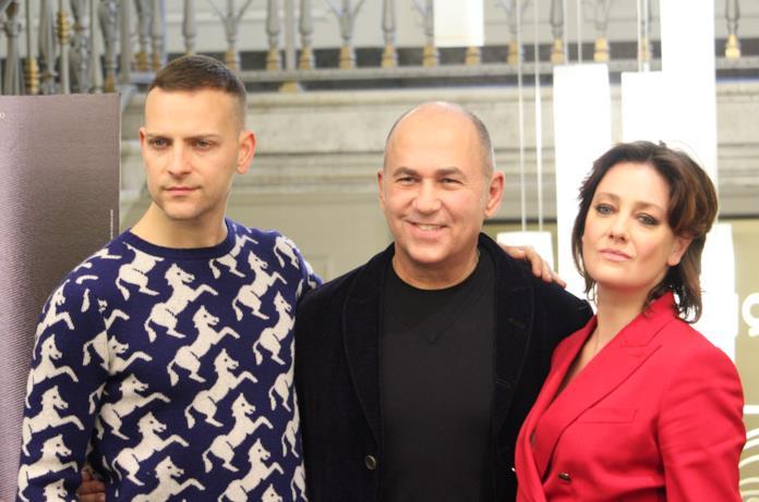 Il trio di Napoli Velata: Ferzan Ozpetek, Alessandro Borghi e Giovanna Mezzogiorno