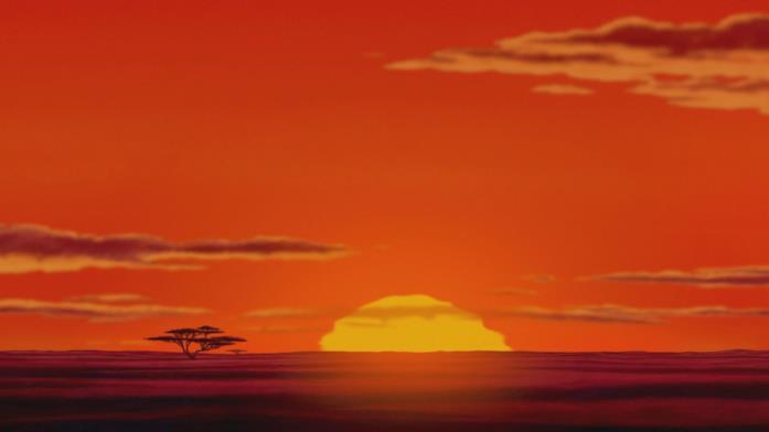 Il panorama africano nel film Il re leone