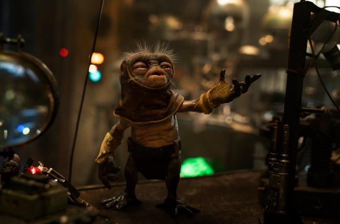 Babu Frik in una scena di Star Wars: L'ascesa di Skywalker