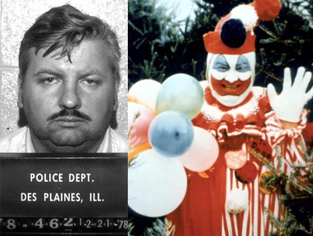Il serial killer John Wayne Gacy e il suo travestimento da clown