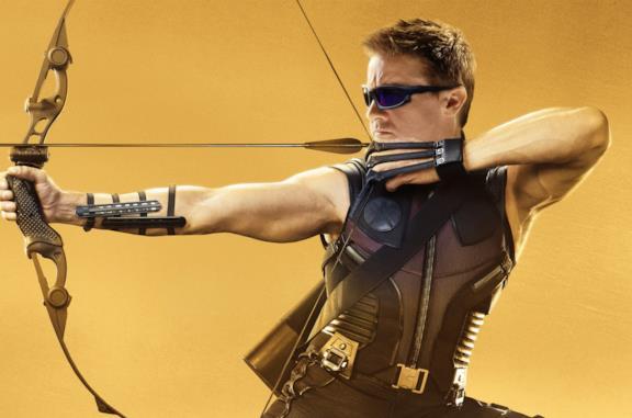 Jeremy Renner nei panni di Occhio di Falco
