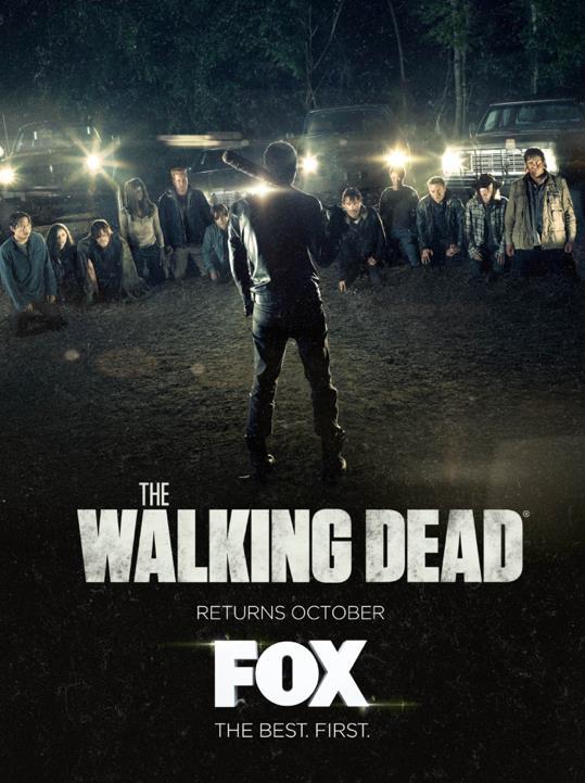 Gli undici protagonisti e Negan nel poster di The Walking Dead season 7