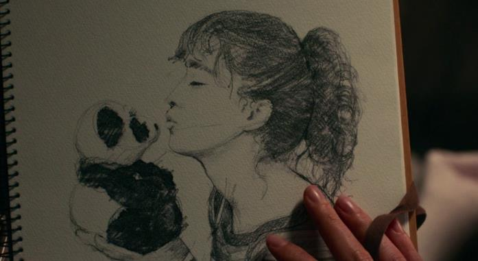 Stella ritratta da Will nell'album che il ragazzo le dà come regalo d'addio