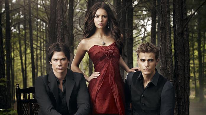 Un poster promozionale di The Vampire Diaries