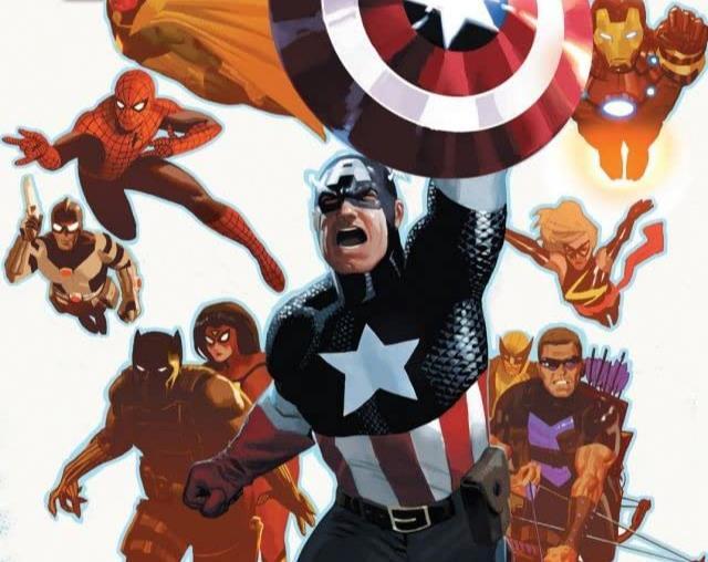 Dettaglio della cover di Avengers #19