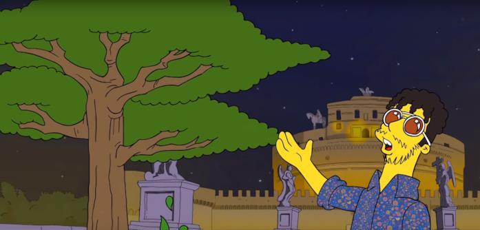 Il nuovo video di Carl Brave in stile Simpson