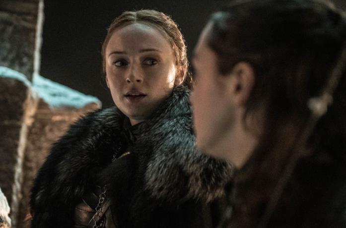 Sansa e Arya in GoT 8x03