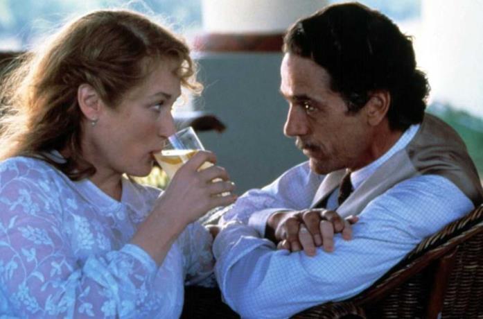 Meryl Streep e Jeremy Irons in La casa degli spiriti