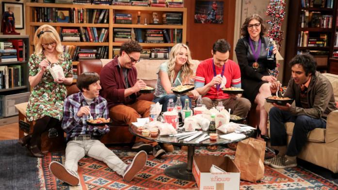 I protagonisti di The Big Bang Theory nell'ultima scena della serie TV