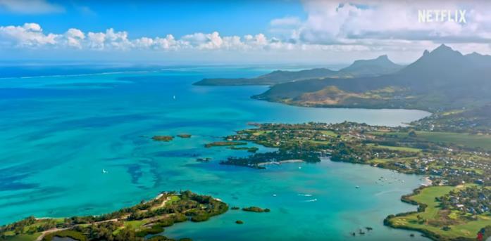 L'isola di Mauritius vista dall'alto