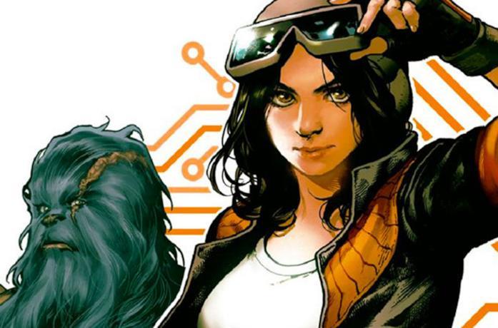 La Dottoressa Aphra sulla copertina di un fumetto