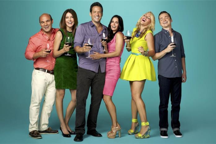 Il cast di Cougar Town