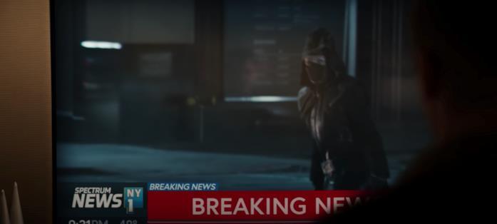 Il vigilante visto al telegiornale